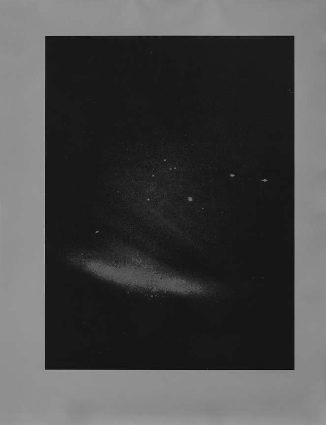 <b>aurora borealis and ursa major</b>, 2017, gelatin silver print, 10 x 8 in