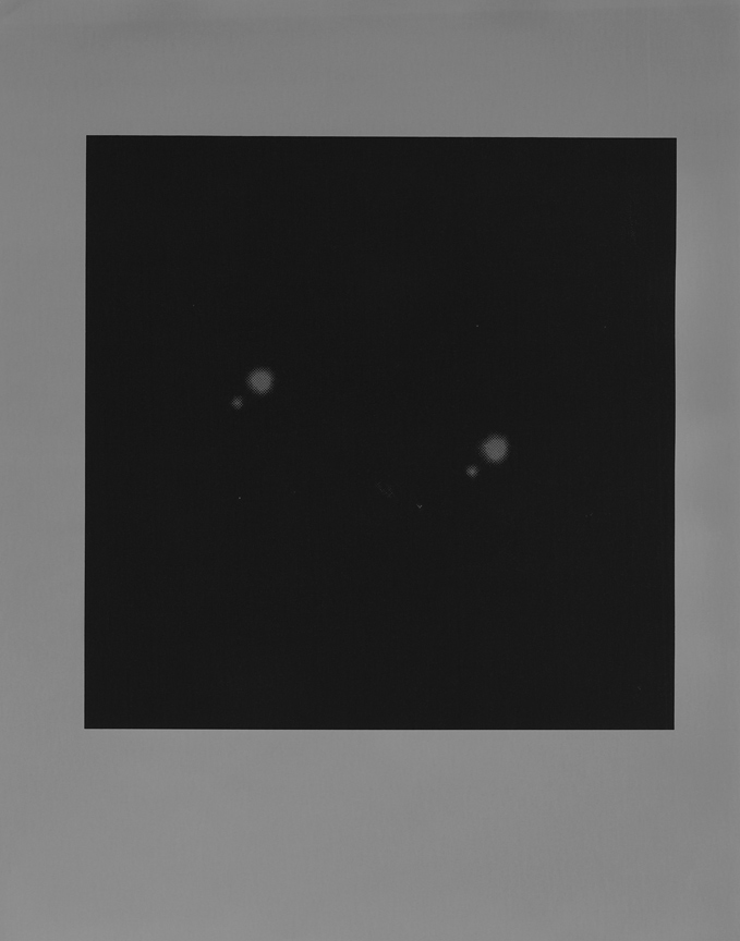 <b>double mizar and alcor</b>, 2017, gelatin silver print, 10 x 8 in